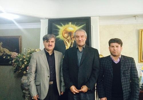 دیدار دکتر عزیزی و مسئولین ورزش شیروان با رئیس فدراسیون فوتبال