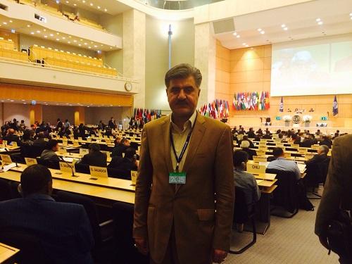 دکتر عزیزی در اجلاس بین المللی کار در مقر سازمان ملل، ژنو