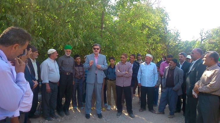 دیدار دکتر عزیزی با مردم خونگرم برخی از روستاهای جنوب شهرستان شیروان