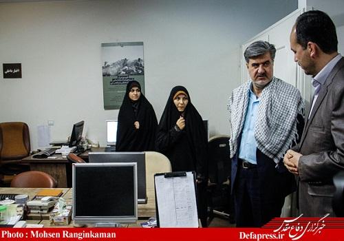 دکتر عبدالرضا عزیزی_افتتاحیه دفتر بسیج رسانه خبرگزاری دفاع مقدس 8