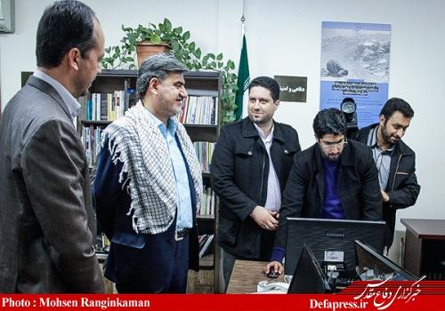 گزارش تصویری افتتاحیه دفتر بسیج رسانه خبرگزاری دفاع مقدس