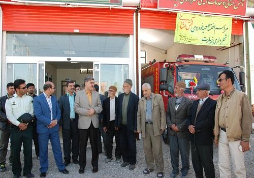 بهره برداری از اولین دستگاه ماشین اطفای حریق آتش نشانی شهر زیارت