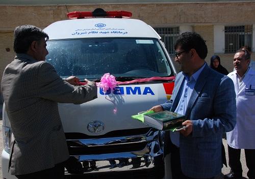 واگذاری آمبولانس پیشرفته به درمانگاه تخصصی تامین اجتماعی شیروان