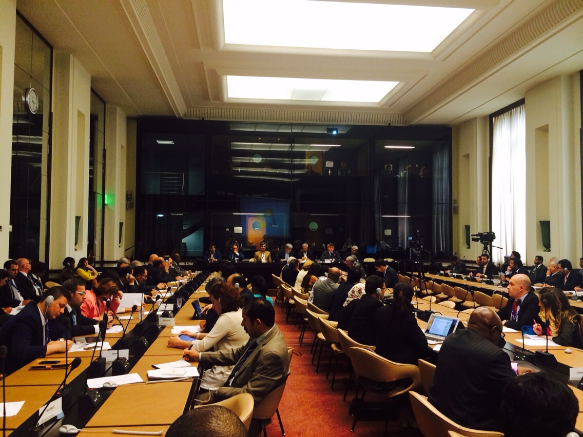 دکتر عزیزی و وزیر محترم کار در مجمع عمومی اجلاس بین المللی کار