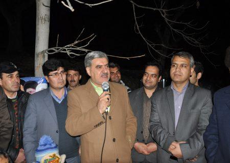 کلنگ زنی پروژه های آبرسانی روستاهای رضاآباد شرقی، پیرشهید و گرماب توسط دکتر عزیزی