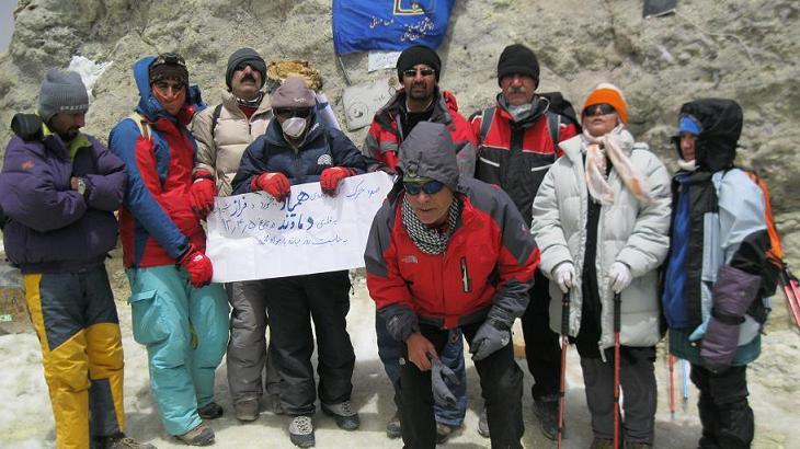 صعود مشترک گروه کوهنوردی فـراز شیـروان و همیار بجنورد به قله دماوند