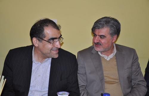 ضیافت شام دکتر عزیزی به افتخار دکتر هاشمی وزیر محترم بهداشت