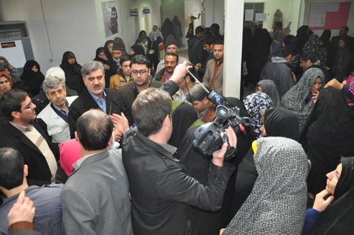 دکتر عبدالرضا عزیزی_بازدید از مرکز بهداشتی و درمانی شهر قوشخانه