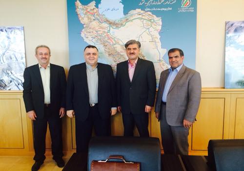 جلسه دکتر عزیزی با معاون وزیر راه درباره ساخت راه آهن شیروان – بجنورد