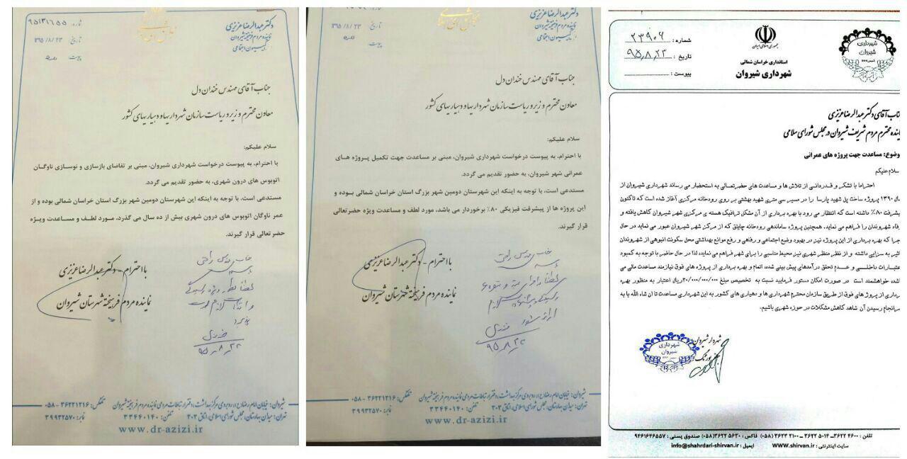 پیگیری های دکتر عزیزی جهت تکمیل پروژه های عمرانی شهرداری شیروان