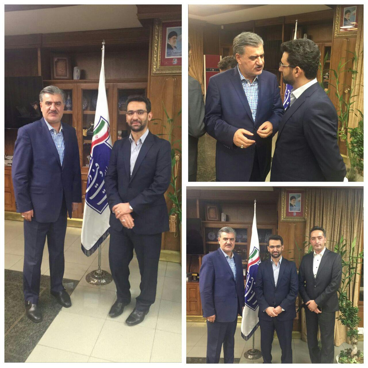 جلسه دکتر عزیزى با مهندس جهرمى وزیرمحترم ارتباطات و فنآوری اطلاعات
