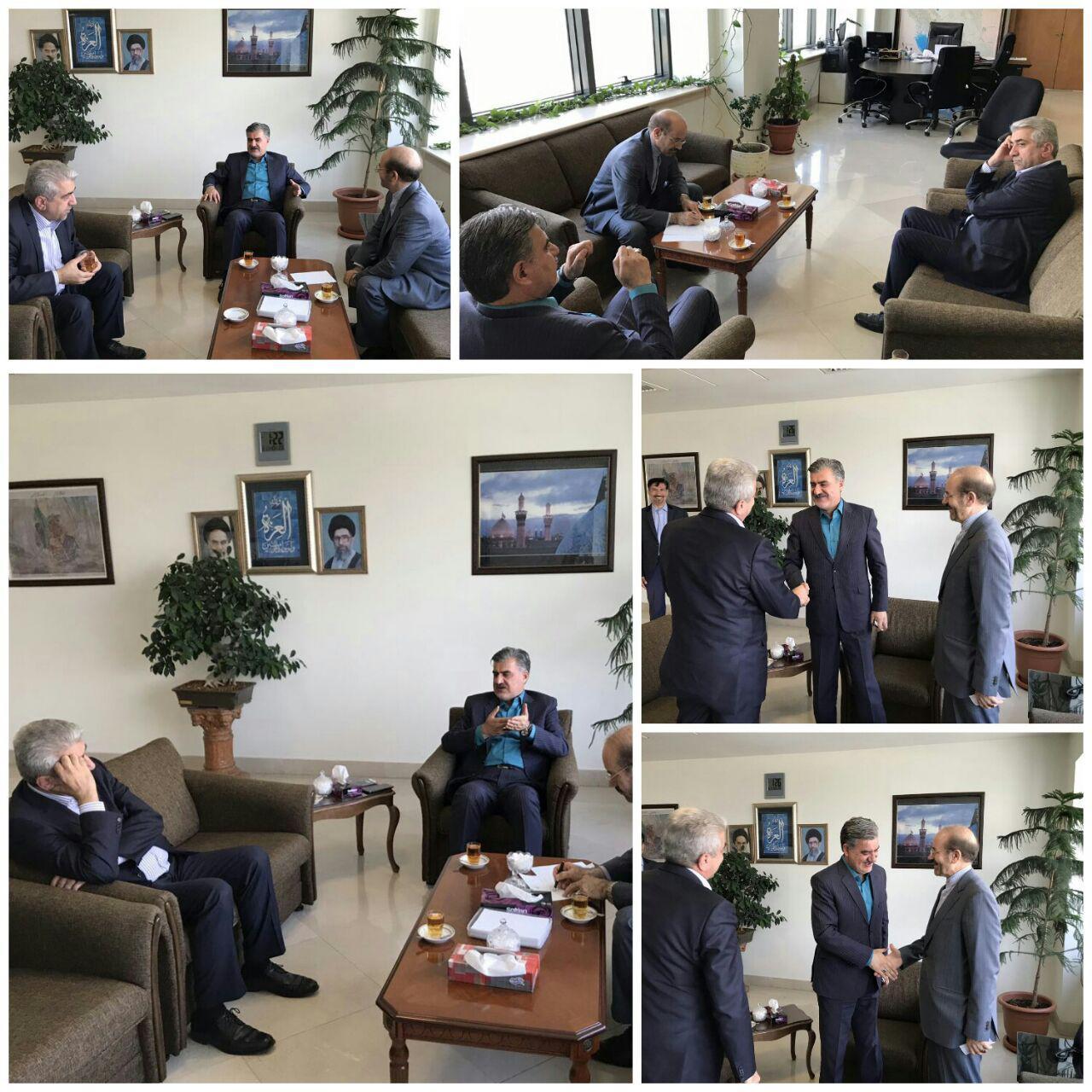 جلسه دکتر عزیزی با مهندس محمودی سرپرست وزارت نیرو در رابطه با آب های زیرزمینی منطقه سرانی شیروان.