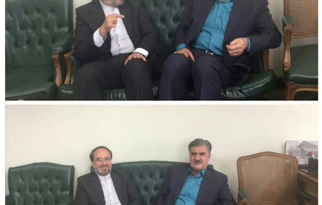 جلسه دکترعزیزى با دکتر اسلامى مدیرکل پارلمانى بانک مرکزى جمهورى اسلامى ایران درخصوص کمک به صندوق قرض الحسنه شهید فاضل شیروان