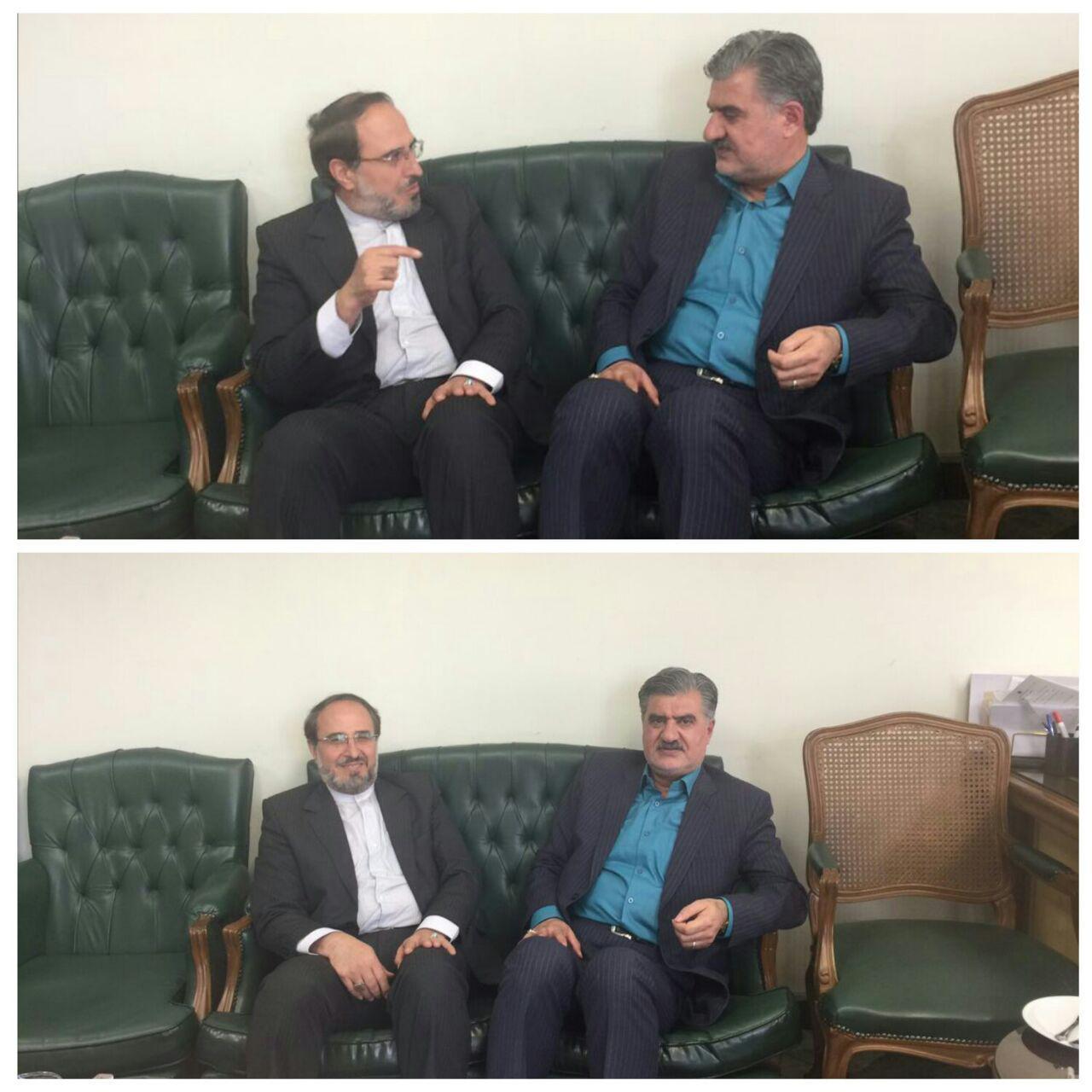 جلسه دکترعزیزى با دکتر اسلامى مدیرکل پارلمانى بانک مرکزى جمهورى اسلامى ایران درخصوص کمک به صندوق قرض الحسنه شهید فاضل شیروان.