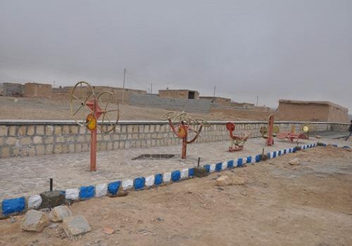 دکتر عبدالرضا عزیزی_افتتاح پارک در روستای سجاد آباد